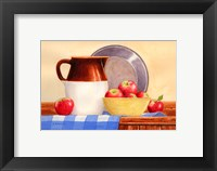 Framed Apples In Yellow Bowl