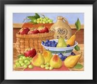 Framed Apples, Grapes & Pears