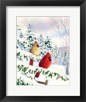 Framed Cedar Farms Cardinals I