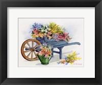 Framed Flower Cart