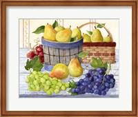 Framed Grapes & Pears