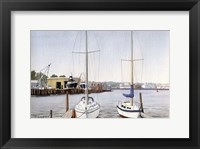 Framed Sailboats At Dock