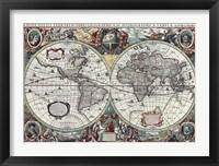 Framed Nova Totius Terrarum Orbis Tabula