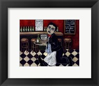 Framed French Waiter I