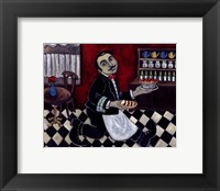 Framed French Waiter II