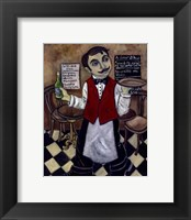 Framed French Waiter III