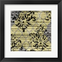 Deconstructed Damask II Framed Print