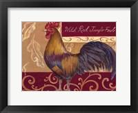 Framed Rustic Roosters II