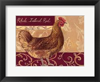 Framed Rustic Roosters III