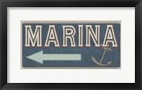 Shoreline Signs II Framed Print