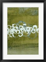 Green Orbs I Framed Print