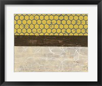 Framed Honey Comb Abstract II