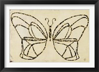 Framed Butterfly Armature