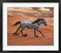 Framed Blazing Horse II