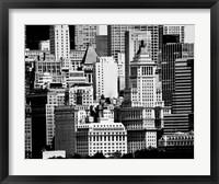 Framed NYC Skyline IX