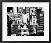 Framed NYC Skyline IX
