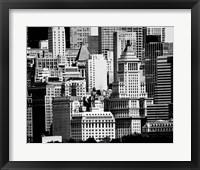 NYC Skyline IX Framed Print