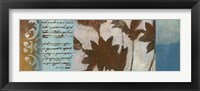 Flower Filigree Panorama II Framed Print