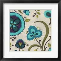 Peacock Garden II Framed Print