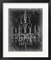 Framed Chalkboard Chandelier Sketch II
