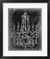 Framed Chalkboard Chandelier Sketch III
