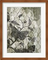 Framed Arabesque Butterflies I