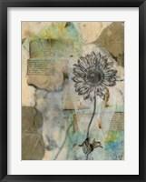 Vellum Floral I Framed Print