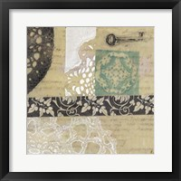 Filigree & Key I Framed Print