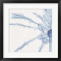 Chambray Palms I Framed Print