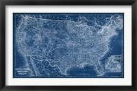Framed US Map Blueprint