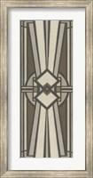 Framed Neutral Deco Panel I