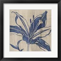 Framed Indigo Lily