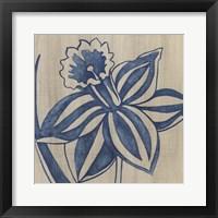 Framed Indigo Daffodil