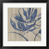 Framed Indigo Poppy