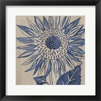 Framed Indigo Sunflower