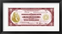 Framed Modern Currency I