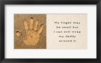 Framed My Finger May Be Small Handprint in the Sand