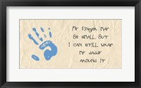 Framed My Finger May Be Small Blue Handprint
