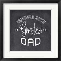 Framed World's Greatest Dad - black