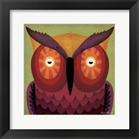 Framed Owl WOW