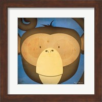 Framed Monkey WOW