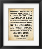 Framed Seeming to Do is Not Doing - Thomas Edison