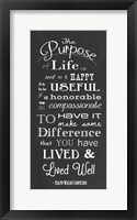 Framed Purpose