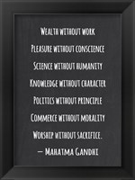 Framed Knowledge Without Character