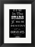 Framed It Is Not In The Stars
