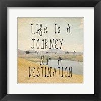 Framed Life Is A Journey quote