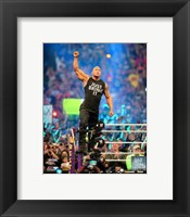 Framed Rock Wrestlemania 30 Action