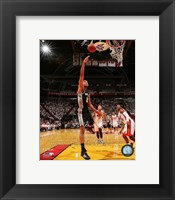 Framed Tim Duncan Game 3 of the 2014 NBA Finals Action