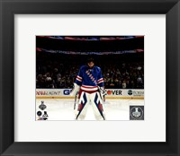 Framed Henrik Lundqvist Game 4 of 2014 Stanley Cup Final