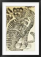 Framed Korean Folk Tiger